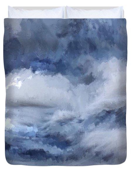Storm At Sea Duvet Cover