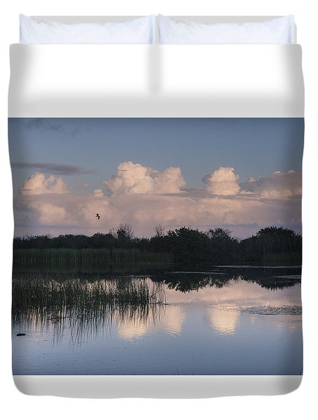 Storm At Sunrise Over The Wetlands Duvet Cover
