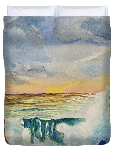 Storm At Sunset Duvet Cover