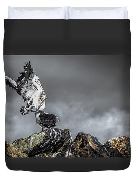 Storm Birds Duvet Cover
