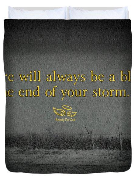 Storm Blessings Duvet Cover