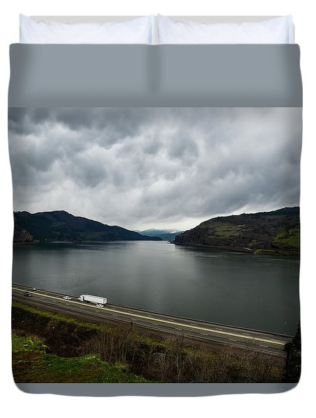 Storm Brewing On The Columbia Duvet Cover