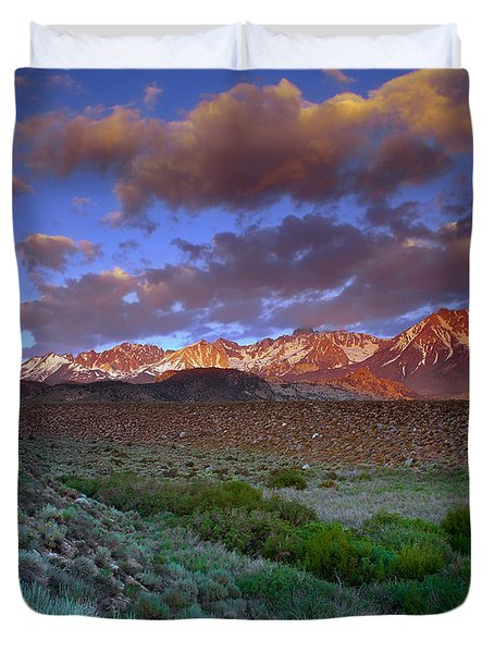 Storm Clearing Over The Sierras Duvet Cover
