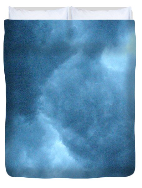 Duvet Cover featuring the photograph Storm Clouds by Angie Rea