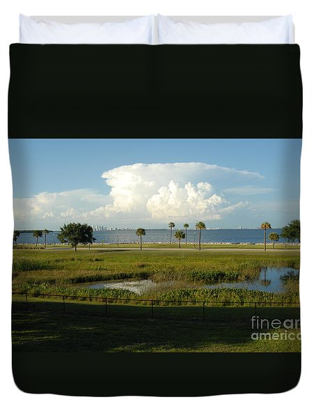 Storm Clouds Approaching Duvet Cover by Cheryl Poland