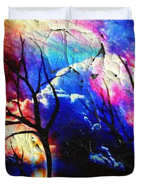 Duvet Cover featuring the digital art Storm Clouds by Kathy Kelly