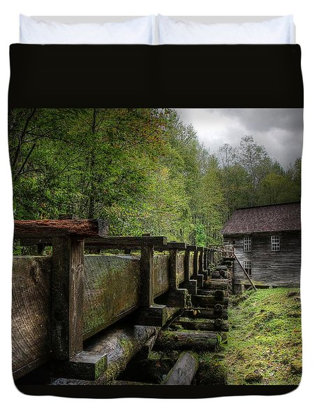 Storm Clouds Over Mingus Mill Duvet Cover