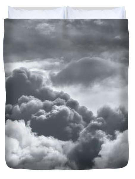 Storm Clouds Over Sheboygan Duvet Cover