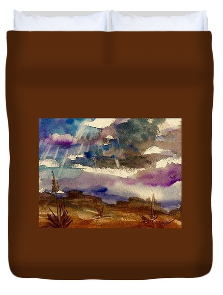 Storm Clouds Over The Desert Duvet Cover