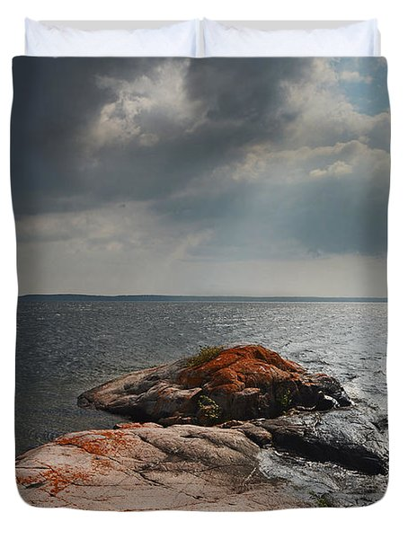 Storm Clouds Over Wall Island Duvet Cover