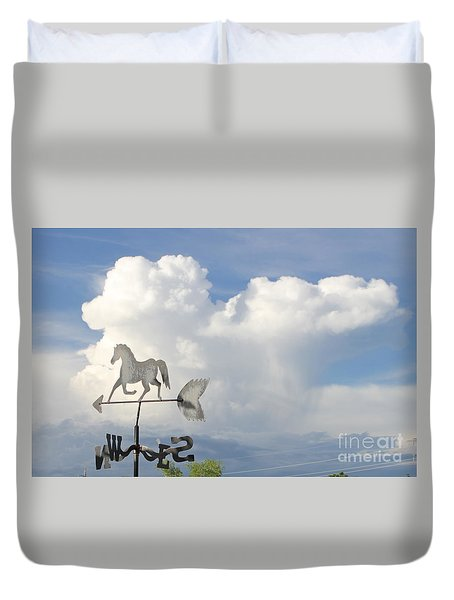 Storm Clouds Weather Vane Duvet Cover