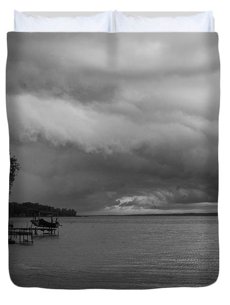 Duvet Cover featuring the photograph Storm Clouds by William Norton