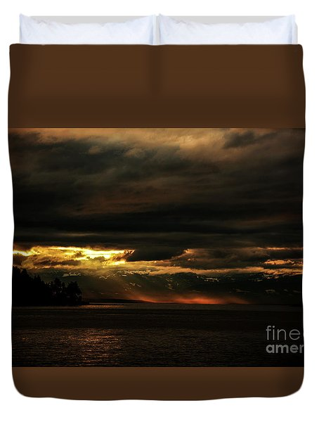 Storm Duvet Cover by Elaine Hunter