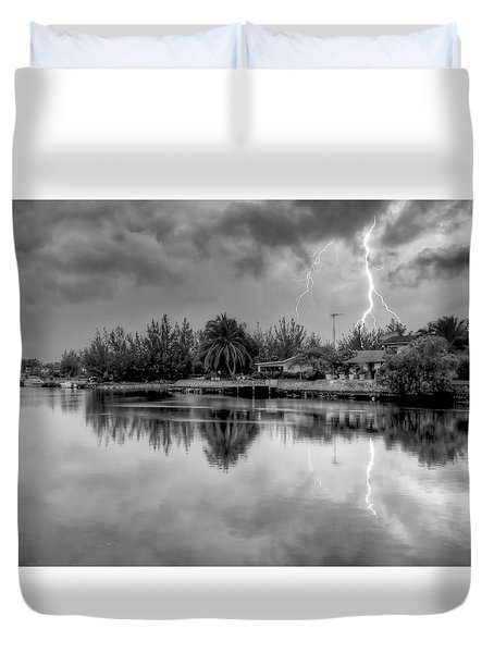 Storm In Paradise Duvet Cover