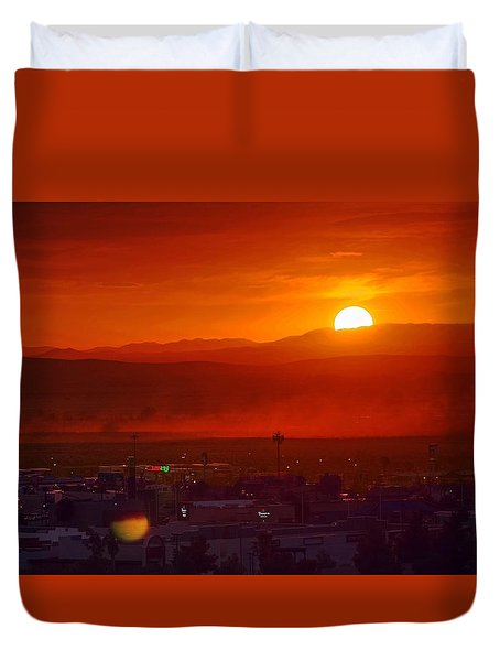 Storm In The Desert Duvet Cover
