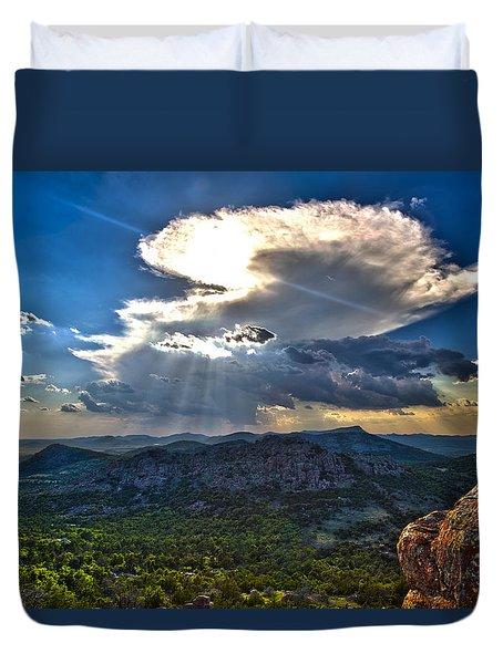 Storm In The Heavens Duvet Cover