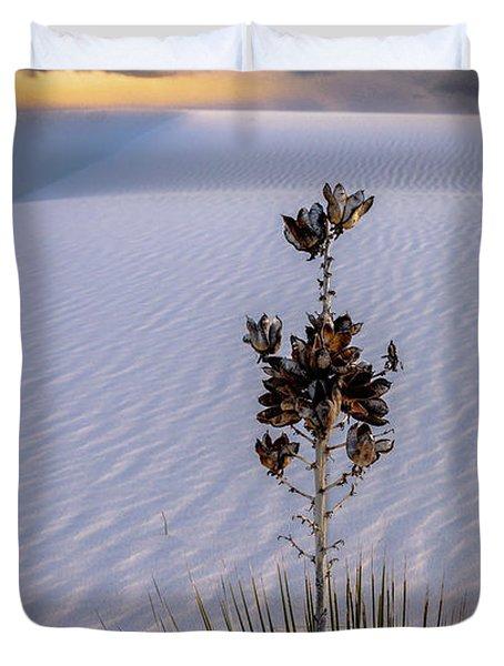 Storm Light At White Sands Duvet Cover