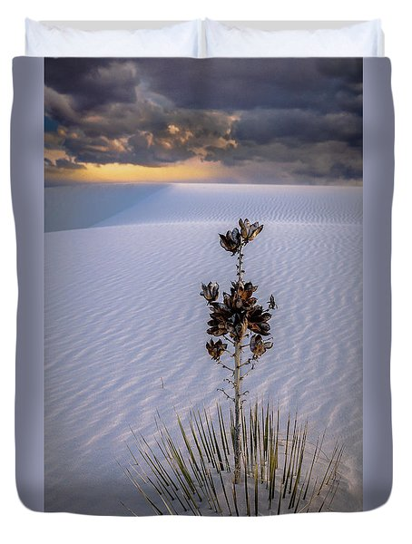 Storm Light At White Sands Duvet Cover