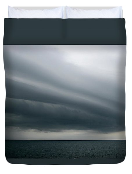 Storm Near Liberia Duvet Cover