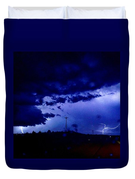 Storm On Farmer's Turnpike Duvet Cover