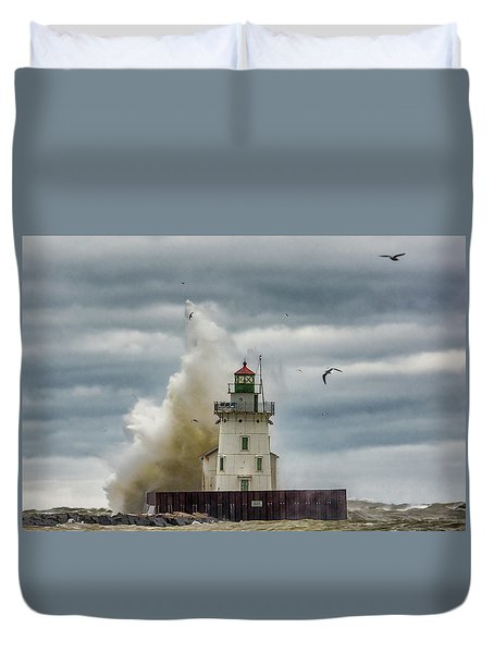 Storm On Lake Erie Duvet Cover