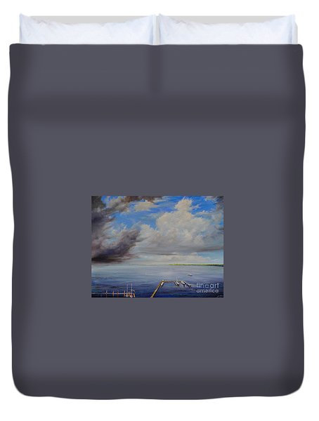 Storm On The Indian River Duvet Cover