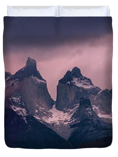 Storm On The Peaks Duvet Cover by Andrew Matwijec