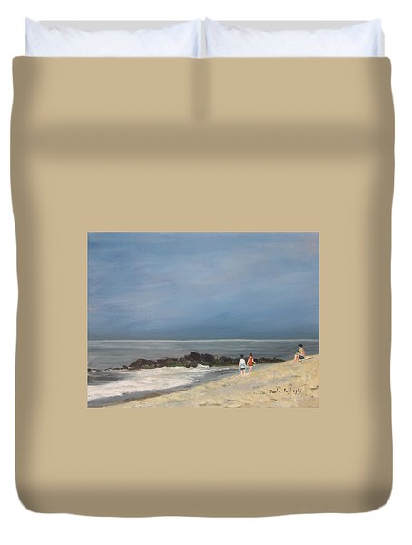Storm Out To Sea Duvet Cover