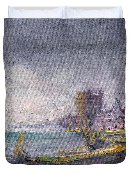 Storm Over Buffalo River  Duvet Cover
