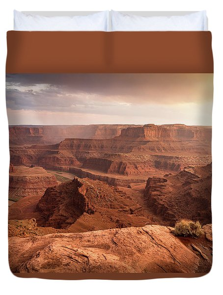 Storm Over Canyonlands Duvet Cover