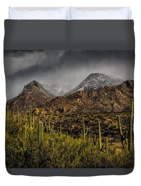 Storm Over Catalinas 15 Duvet Cover