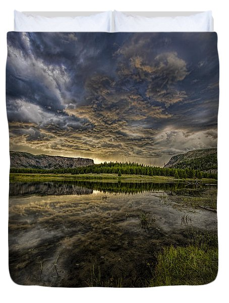 Storm Over Madison River Valley Duvet Cover