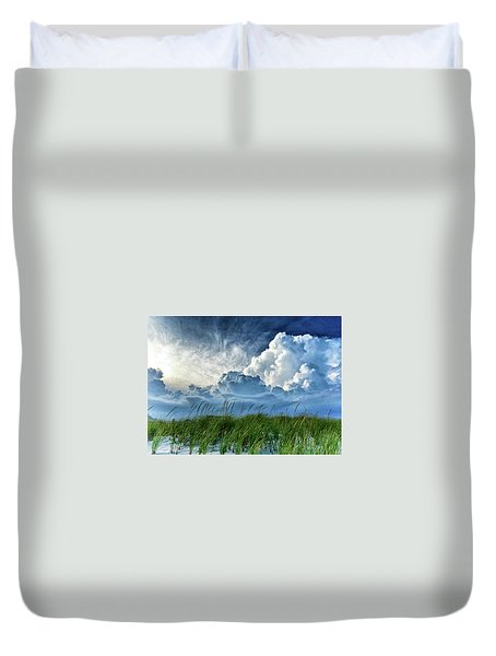 Storm Over The Dunes Duvet Cover