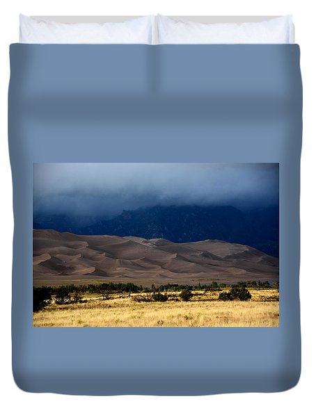Storm Over The Great Dunes Colorado  Duvet Cover