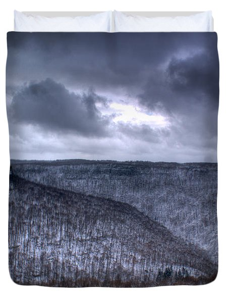 Storm Over The Mesa Duvet Cover