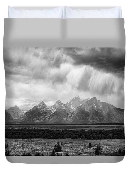 Storm Over Tres Tetons Duvet Cover by Hugh Smith