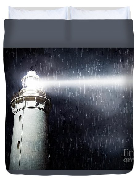 Storm Searchlight Duvet Cover