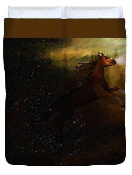 Storm Spooked Duvet Cover by Angela A Stanton