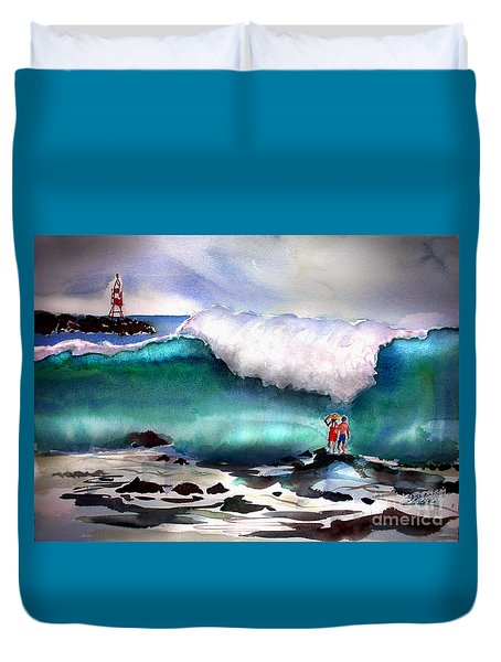 Storm Surf Moment Duvet Cover