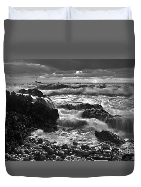 Storm Surge Duvet Cover by Bill  Robinson