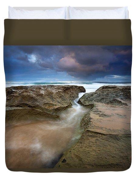 Storm Surge Duvet Cover by Mike  Dawson