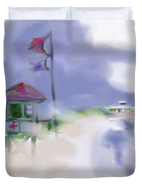 Storm Warning Duvet Cover