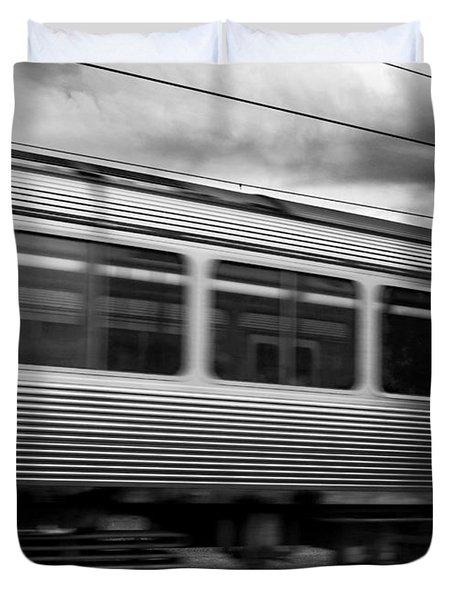 Storming Trains Duvet Cover