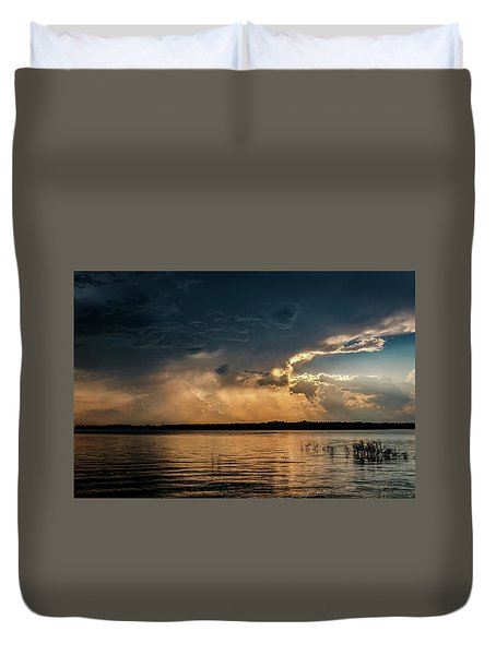 Storms Brewing Duvet Cover by Doug Long