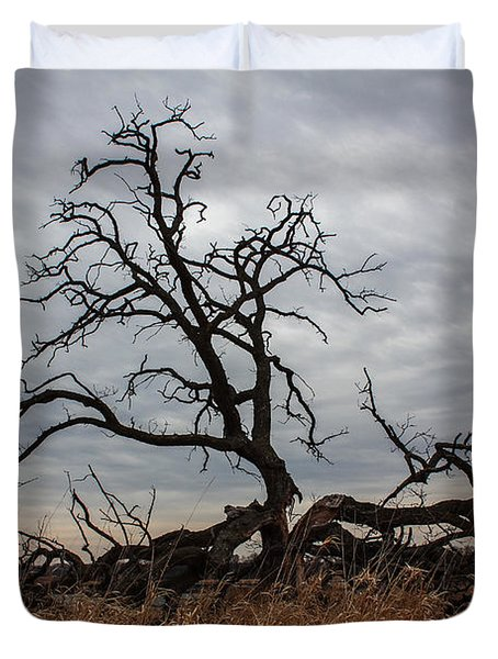 Storms Make Trees Take Deeper Roots  Duvet Cover