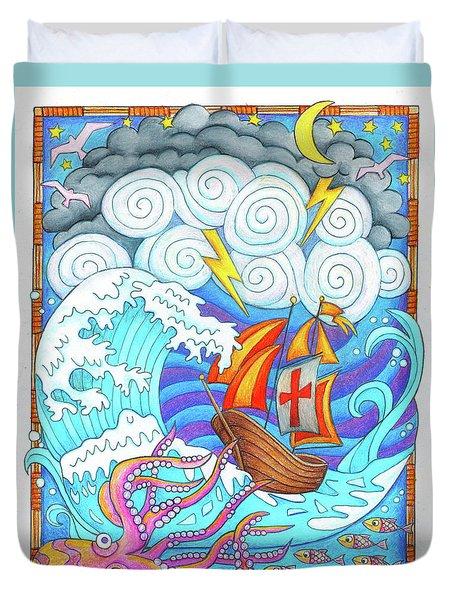 Storms Of Life Duvet Cover by Jennifer Allison