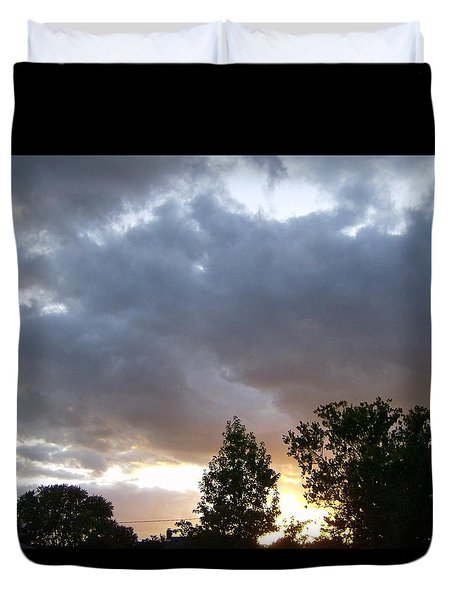 Storms On The Horizon Duvet Cover