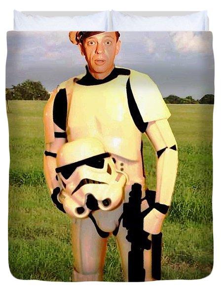 Stormtrooper Barney Fife Duvet Cover by Paul Van Scott
