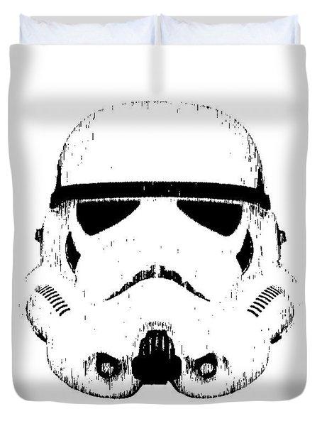 Stormtrooper Helmet Star Wars Tee Black Ink Duvet Cover
