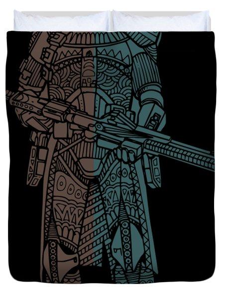 Stormtrooper Samurai - Star Wars Art - Minimal Duvet Cover